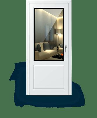 входные пластиковые двери в частный дом