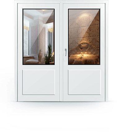 входные двери из пластика для частного дома
